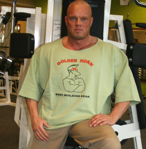 Big Shirt mit Frontdruck Bodybuilder
