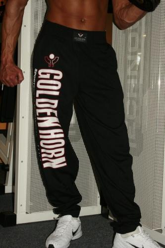 Fitnesshose Schwarz mit Beindruck