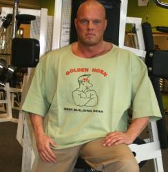 Big Shirt mit Frontdruck Bodybuilder