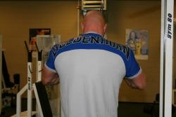 T-Shirt zweifarbig mit Rückendruck
