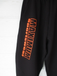 Bodyhose / Fitnesshose mit Beindruck in Orange